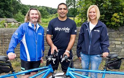 cycling volunteers