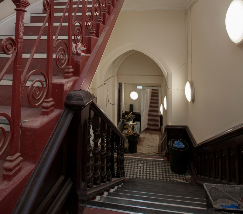 Estate Buildings Huddersfield stairway