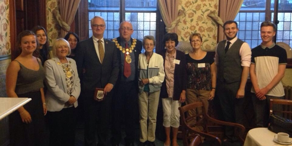 The Mayor of Kirklees meets with the German Consull in Huddersfield