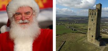 Santa and castle hill