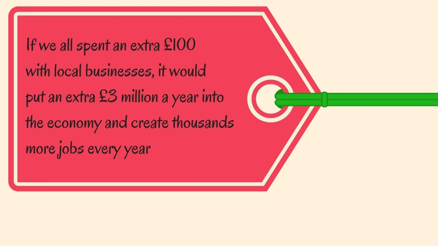 If we all spent £100 more with local businesses, it'd put £3m more into the local economy and create thousands more jobs