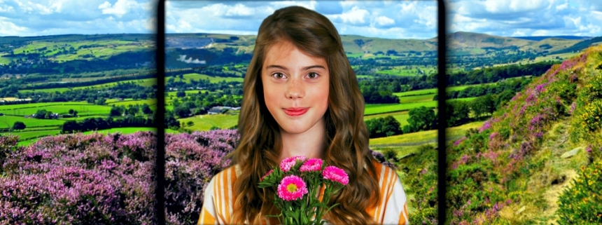 The Railway Children - image of girl with flowers