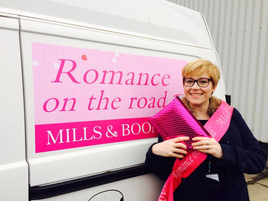 Our Romance on the road branded van
