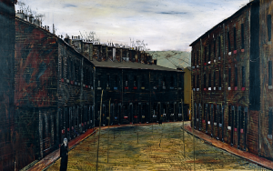 West Riding by Peter Brook - image of terraced houses on a street