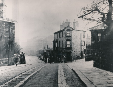 Halifax Road Dewsbury before widening 1938
