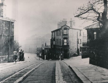 Halifax Road Dewsbury before widening 1938